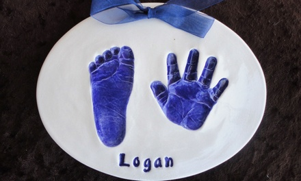 $24 for Custom Engraved Ceramic Hand and Foot Impression or $50 Credit at Impressions by Donna ($50 Value)