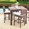Ainsley Outdoor 5-Piece Brown Wicker Counter Stool Dining Set