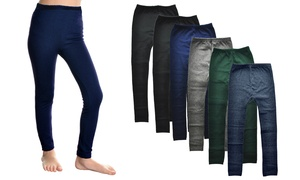 Kids' Fleece-Lined Leggings (6-Pack)