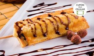 Belos's Festas e Decorações: Belo's Festas e Decorações: buffet de crepe no palito em domicílio para 30, 50 ou 80 pessoas