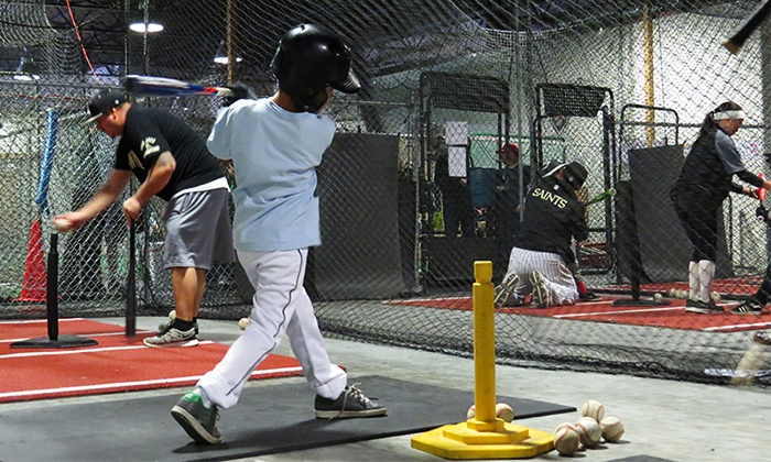 San Jose Batting Cages - South San Jose: Grand Slam Food Fest with Batting Cage Pitches for One or Two at San Jose Batting Cages (Up to 79% Off)