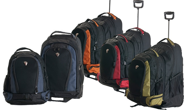 Diplomat 2-in-1 Rolling Backpack   Groupon Goods