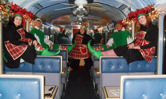 Sierra Railroad Dinner Train - Oakdale: Ride for One on The Christmas Train from Sierra Railroad Dinner Train (44% Off). 10 Dates Available.
