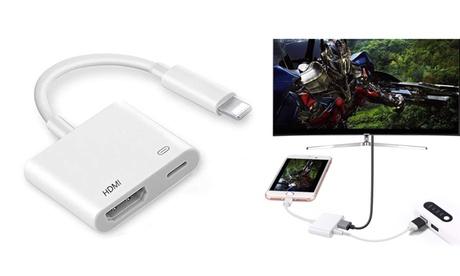 1 o 2 adaptadores de Lightning a HDMI para móvil