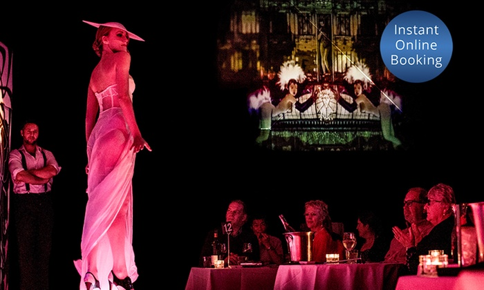Slide Lounge - Slide Lounge: Three-Course Dinner and Risqué Revue Cabaret Show for Two ($150) or Six People ($435) at Slide Lounge (Up to $534 Value)