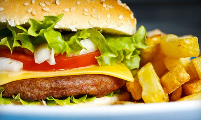 Juicy Burgers & Dogs - Centennial: Classic American Dinner or Lunch Fare at Juicy Burgers & Dogs in Centennial (Half Off)