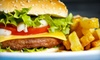 Juicy Burgers and Dogs - Centennial: Classic American Dinner or Lunch Fare at Juicy Burgers & Dogs in Centennial (Half Off)