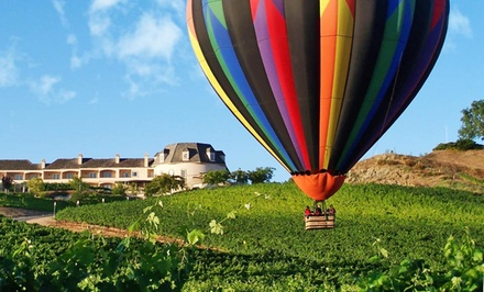 1-Night Stay with Breakfast and Hot-Air Balloon Flight or Limousine Winery Tour at Inn at Churon Winery in Temecula, CA