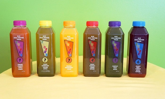 Eureka Juice: Raw, Cold-Pressed Juice Cleanses from Eureka Juice (Up to 51% Off). Four Options Available.