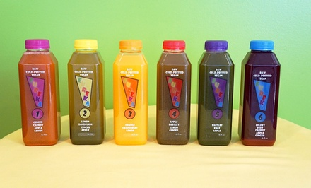 Raw, Cold-Pressed Juice Cleanses from Eureka Juice (Up to 55% Off). Five Options Available.