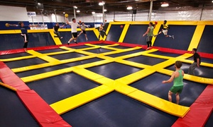 Sky High Sports- Naperville: $13 for Two Hours of Jump Time, Valid Monday-Thursday at Sky High Sports- Naperville ($20 Value)