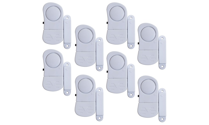 Stalwart Mini Wireless Window Security System Alarms (8-Pack)