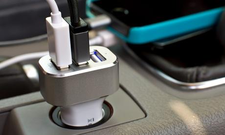 Cargador de coche con 3 puertos USB
