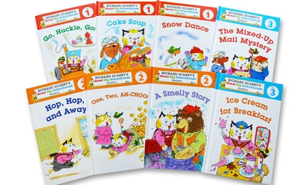 Richard Scarry 8-Book Great Big Schoolhouse Readers Bundle