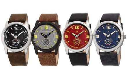 Relojes Joshua & Sons para hombre con correa de cuero