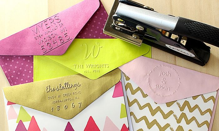 RubberStamps.com: One or Two Personalized Embossers from RubberStamps.com (Up to 53% Off)