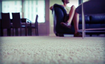 One Hallway and Three or Five Rooms of Carpet Cleaning from Pro Steamers (Up to 67% Off)