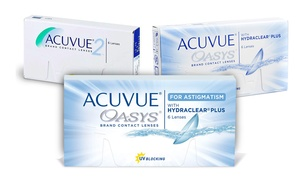 LensDiscounters.com: Acuvue Oasys, Acuvue Oasys for Astigmatism, or Acuvue 2 Contact Lenses from LensDiscounters.com