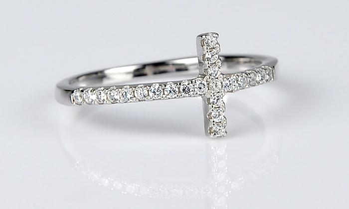 Sideways Cross Ring  31cf23728