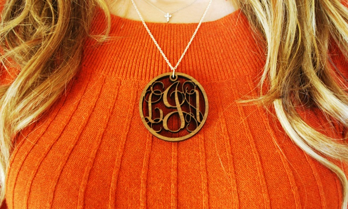 Monogrammed Wooden Charm Necklace: Monogrammed Wooden Charm Necklace from LilyDeal.com