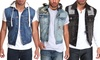Agile Men's Denim Vest: Agile Men's Denim Vest. Multiple Styles Available. Free Returns.