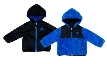 Rugged Bear Toddlers' and Boys' Reversible Sherpa. Multiple Colors Available.