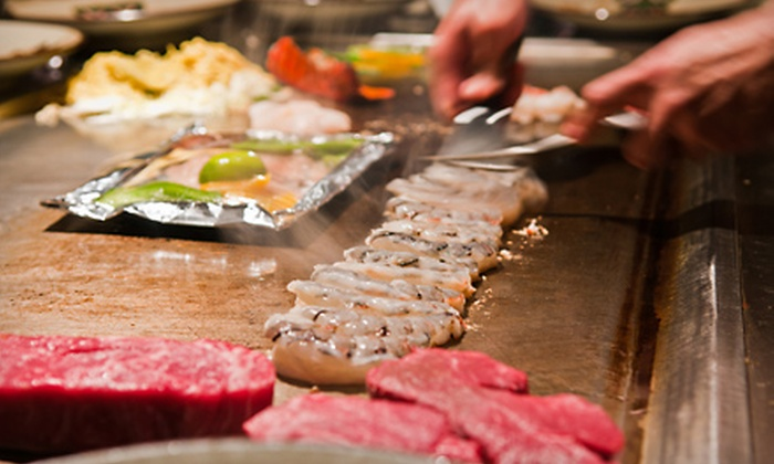 Shogun Restaurant Japanese Steak House - Corpus Christi: Steak and Seafood Hibachi Dinner for Two or Four with Soup, Salad, and Entrees at Shogun Japanese Steak House (56% Off)