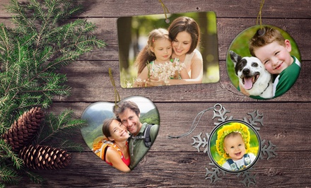 Customizable Ceramic, Metal, or Pewter Ornament from Picture It on Canvas for $9.99 or $11.99