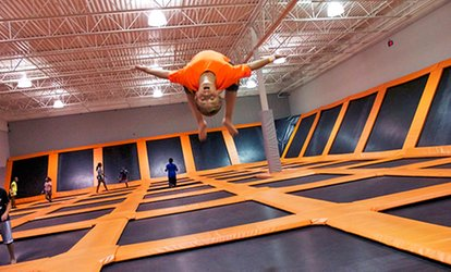 image for $19 for a One-Hour Trampoline Session for Two at AirTime Trampoline ($30 Value)
