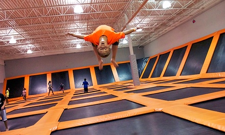 C$16 for a OneHour Trampoline Session for Two at AirTime Trampoline (C$24 Value)