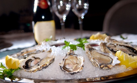 Oysters and Wine or Mediterranean Food at Lunch at Dari Seafood & Mediterranean Cuisine (Up to 53% Off)