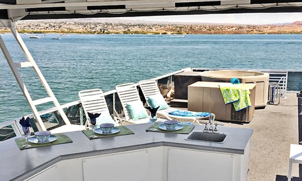 groupon daily deal - 3-Day/2-Night or 5-Day/4-Night Houseboat Stay for Up to 10 at Lake Havasu Houseboats in Arizona