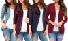 Women's Fall Snap Button Cardigan. Plus Sizes Available.