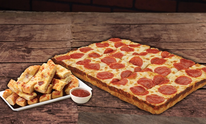 Jet's Pizza - Farmington: One or Two Large One-Topping Pizzas with Bread and Pop at Jet's Pizza (46% Off)