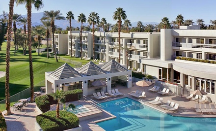 Groupon Deal: Stay with Welcome Drinks and Daily Breakfast for Two at Indian Wells Resort Hotel in Indian Wells, CA. Dates into June.