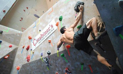 image for <strong>Climbing</strong> Packages at Carabiner's <strong>Climbing</strong> & Fitness (Up to 61% Off)
