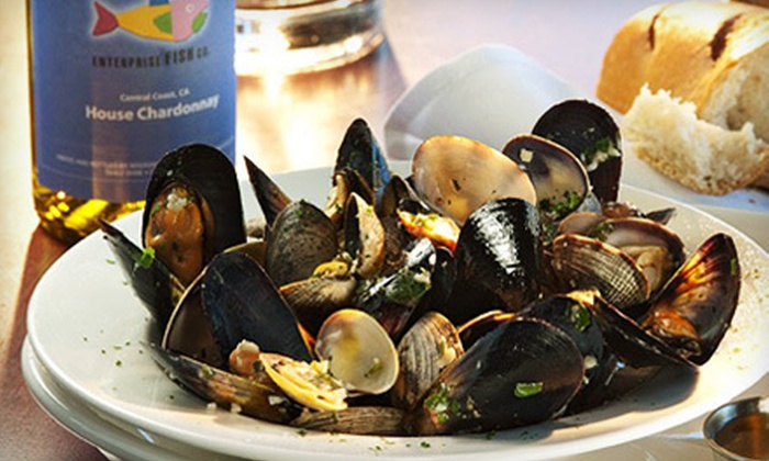Enterprise Fish Co. - Ocean Park: Seafood and Other American Food at Enterprise Fish Co. (Up to 52% Off). Two Options Available.