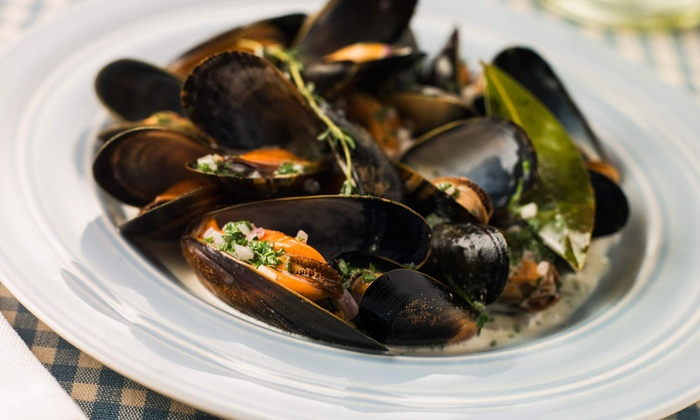 Acacia - Huntington Village: Mussel-Pot Dinner for Two or Four with Entrees and Wine or Beer at Acacia   (Up to 50% Off)