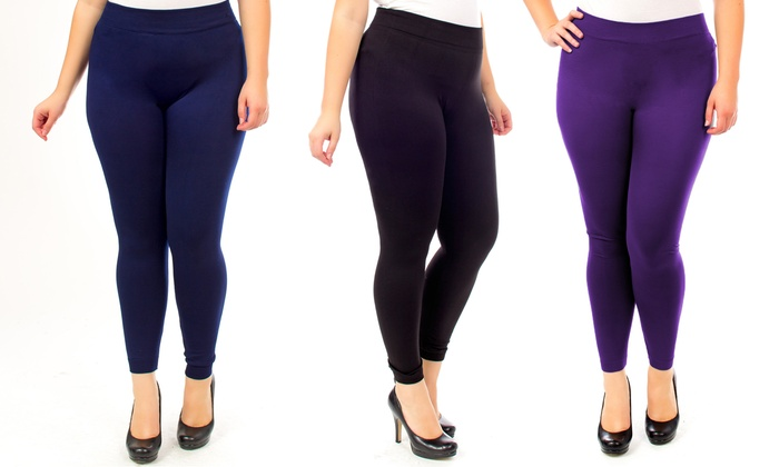 plus-size thermal leggings | groupon goods