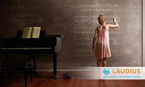 Laudius - Akademie für Fernstudien: 12 Monate Fernkurs zur Musiklehre mit Noten, optional mit Fernlehrerbetreuung und Prüfung bei Laudius(66% sparen*)