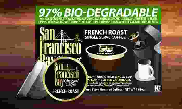 San Francisco Bay Coffee French-Roast Single-Serve Pod 36-Pack: San Francisco Bay Coffee French-Roast Single-Serve Pod 36-Pack