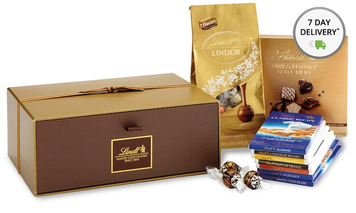 Lindt and LINDOR Chocolate Gift Sets: Lindt and LINDOR Chocolate Gift Sets. Multiple Options Available from $54.99-$89.99.