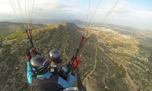 Parapente Valencia: Vuelo y pilotaje de parapente biplaza con monitor más curso de autopilotaje para 1 o 2 desde 79 € con Parapente Valencia