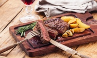 Sirloin, Rib-Eye, or Chateaubriand Steak with Chips, Sides and Wine for Two at The Rock Hotel (Up to 48% Off*)