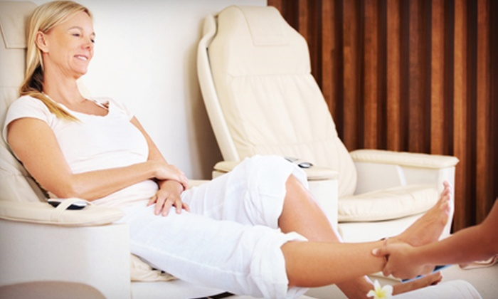 Healing Hands MedSpa - Multiple Locations: $35 for a Foot Reflexology Massage with Neck and Back Acupressure Massage at Healing Hands MedSpa ($99 Value)