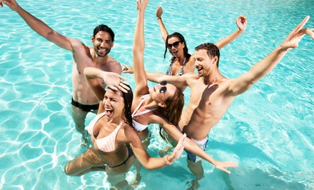 Pool Hop with Tour of Strip on Open-Bar Party Bus for One, Two, or Four from Vegas Rockstar VIP (Up to 72% Off)