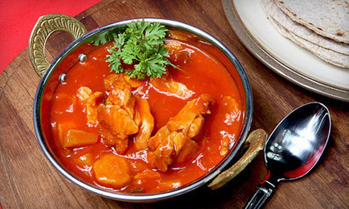 5 Hot Chillies Indian Cuisine - Grace Park: Indian Dinner for Two or $10 for $20 Worth of Takeout Indian Food at 5 Hot Chillies Indian Cuisine