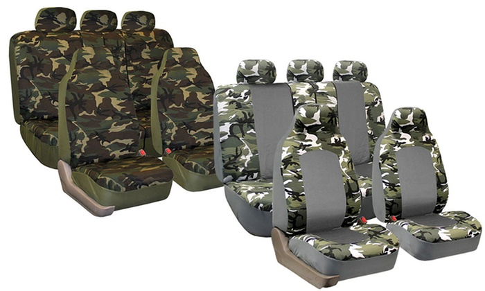 Hunting Camouflage Car Seat Covers Side Airbag Compatible