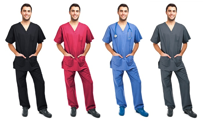 61e5dd31be7 2-Piece Men's Scrubs Set | Groupon Goods