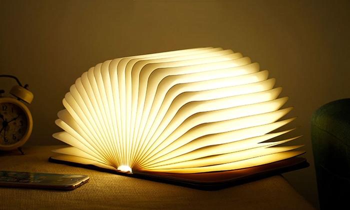 bis zu 80 rabatt led tisch lampe im buch design groupon. Black Bedroom Furniture Sets. Home Design Ideas